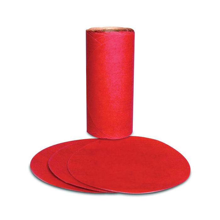 Stikit™ 051111-49916 Open Coated PSA Abrasive Disc Roll, 6 in Dia Disc, P120 Grit, Fine Grade, Aluminum Oxide Abrasive, Paper Backing