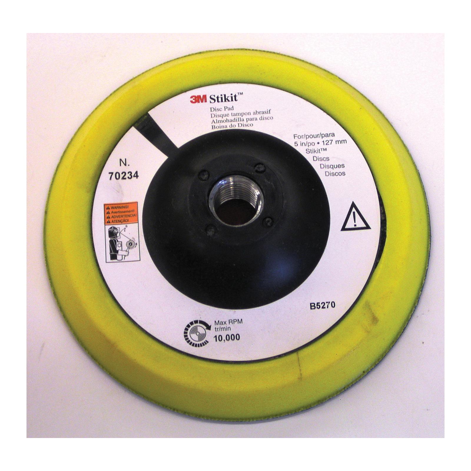 Stikit™ 051111-50453 202DZ General Purpose PSA Straight Flute Machine Tap, 5 in Dia Disc, P150 Grit, Very Fine Grade, Aluminum Oxide Abrasive, Cloth Backing