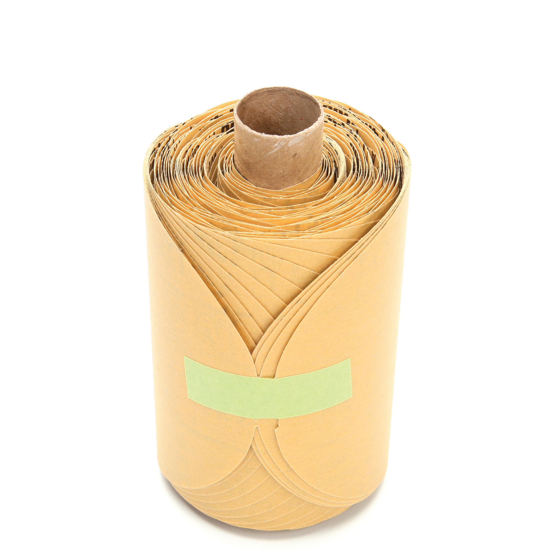 Stikit™ 051131-01417 216U Open Coated PSA Coated Abrasive Disc Roll, 5 in Dia Disc, P500 Grit, Extra Fine Grade, Aluminum Oxide Abrasive, Paper Backing