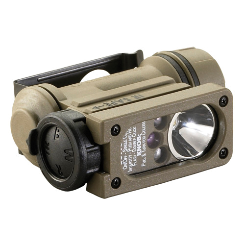 Streamlight® 14512 Sidewinder® Compact®II Military Model Multi-Battery Multi-LED Hands-Free Flashlight, C4® White/Red/Blue/IR LED Bulb, Nylon Housing, 2 to 55 Lumens, 4 Bulbs