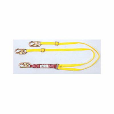 Sure-Stop® 10088259 Shock Absorbing Lanyard, Adjustable, 6 ft LG, 310 lbs, Yellow, Nylon Line