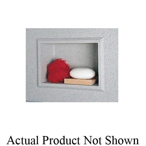 Swan® AS01075.051 Recessed Accessory Shelf, 1 Shelve, 4-1/8 in OAD x 10-3/4 in OAH, Domestic