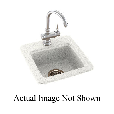 Swan® BS01515.015 Entertainment Sink, 15 in W x 15 in D, Black Galaxy, Domestic