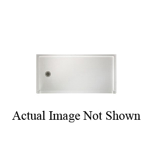 Swan® FB03060RM.010 Barrier-Free Shower Floor, White, Right Drain, 60 in W x 30 in D, Domestic