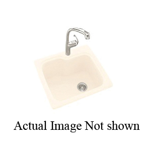 Swan® KS02522SB.051 Kitchen Sink, 21-1/8 in L x 17-5/8 in W x 9 in D Bowl, 25 in L x 22 in W x 9-1/2 in H, Tahiti Sand