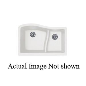 Swan® QU03322LS.076 Large/Small Bowl Kitchen Sink, 17-1/4 in L x 18 in W x 10 in D Left Bowl, 11 in L x 15-1/4 in W x 7-1/2 in D Right Bowl, 32 in L x 21 in W x 10-5/8 in H, Under Mount, Granite, Granito