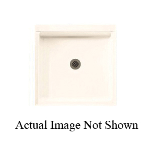 Swan® FF03636MD.010 Single Threshold Shower Floor With Fit-Flo™ Drain, White, Center Drain, 36 in W x 36 in D, Domestic