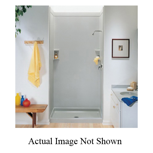 Swan® SS0367201.051 Single Panel Shower Wall, 36 in W x 72 in H, Domestic