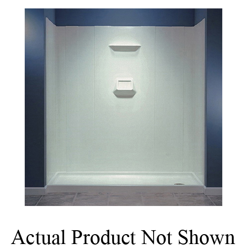 Swan® SW07060.018 High Gloss Shower Wall Kit, 60 in W x 70 in H, Domestic