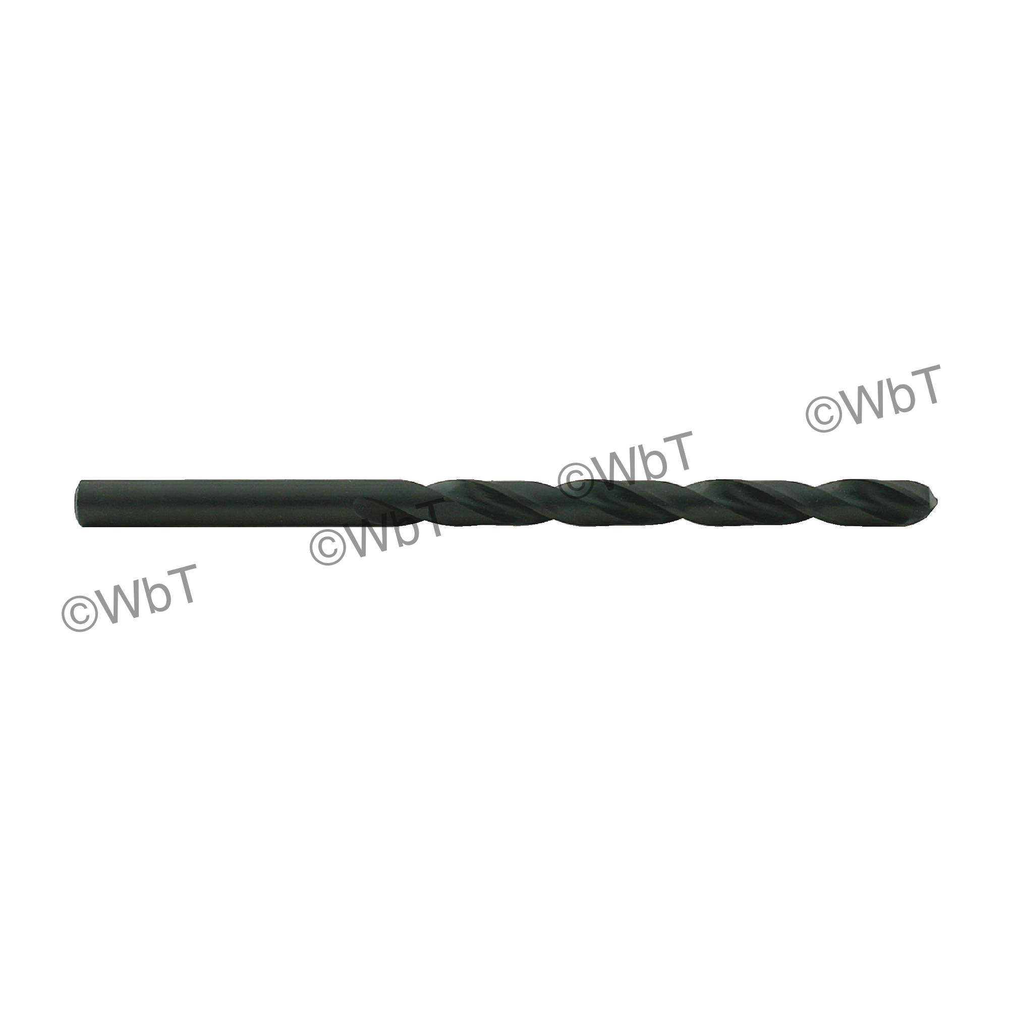 TTC 01-002-024 A2 Series General Purpose Heavy Duty Surface Treated Jobber Length Drill Bit, #24 Drill - Wire, 0.152 in Drill - Decimal Inch, 118 deg Point, HSS, Black Oxide