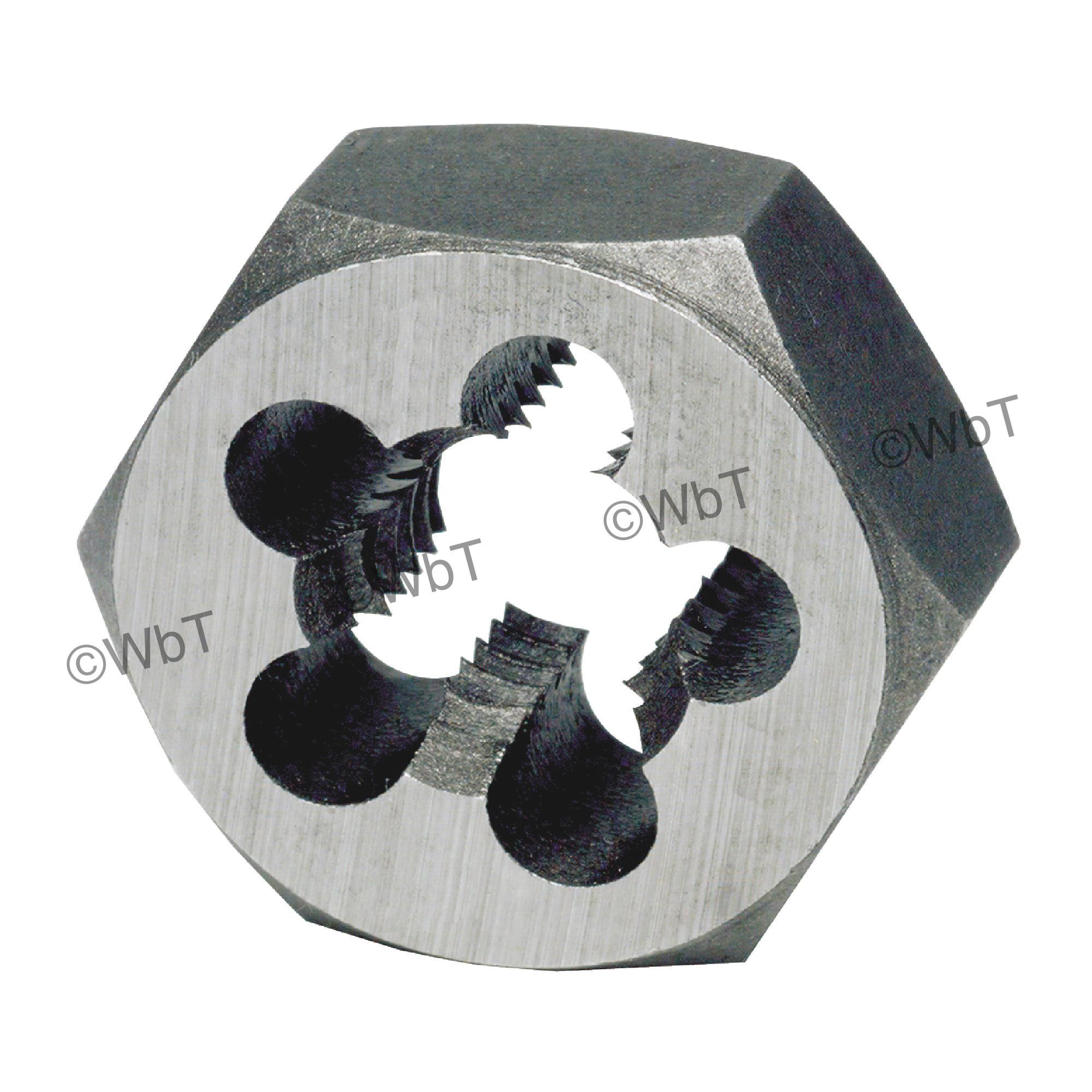 TTC 15-509-180 G5 Hex Rethreading Die, 9/16-18 Thread, Carbon Steel