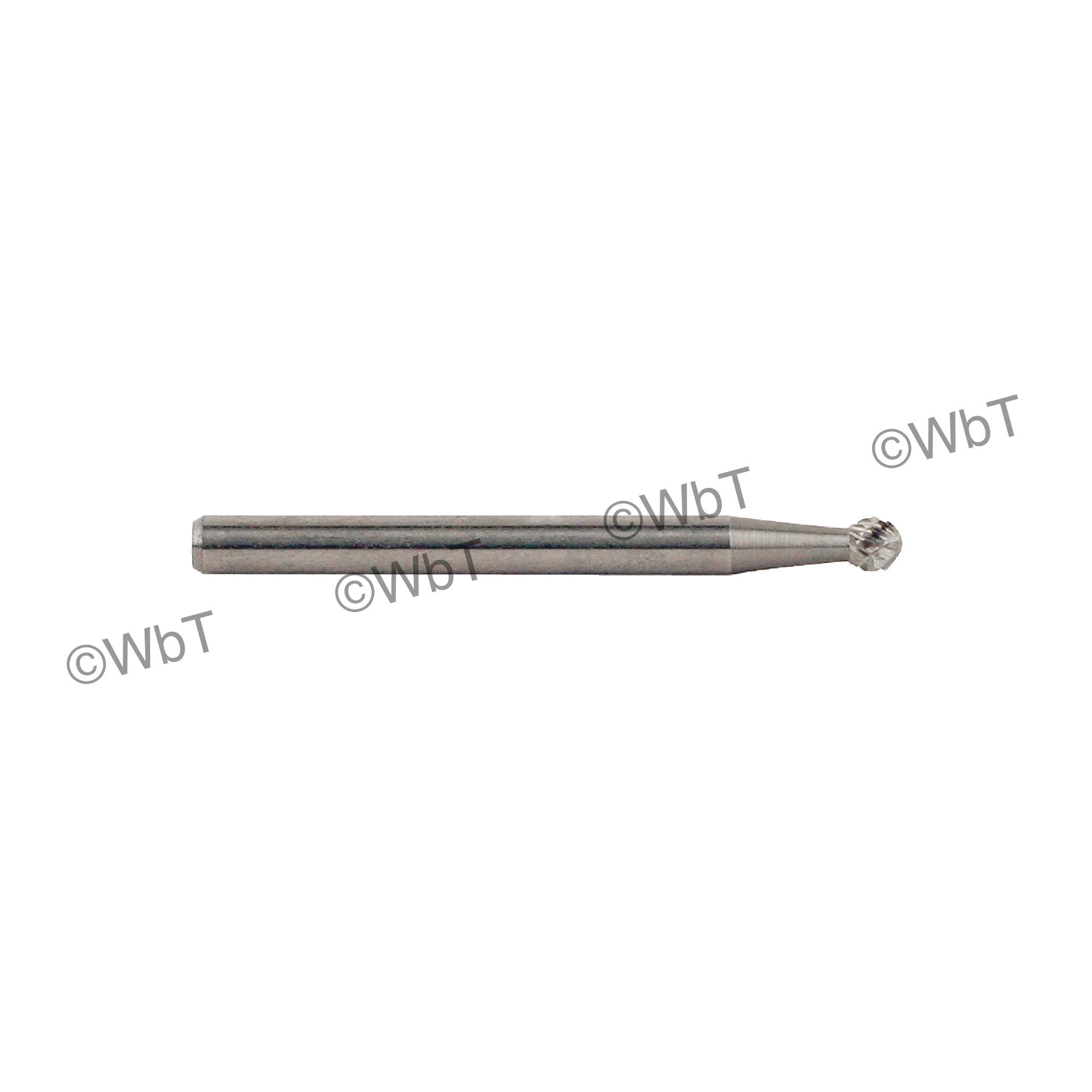 TTC 20-021-105 General Purpose Carbide Burr, Radius End, Taper Radius (Shape SL) Head, 1/4 in Dia Head, 5/8 in L of Cut, Standard Cut