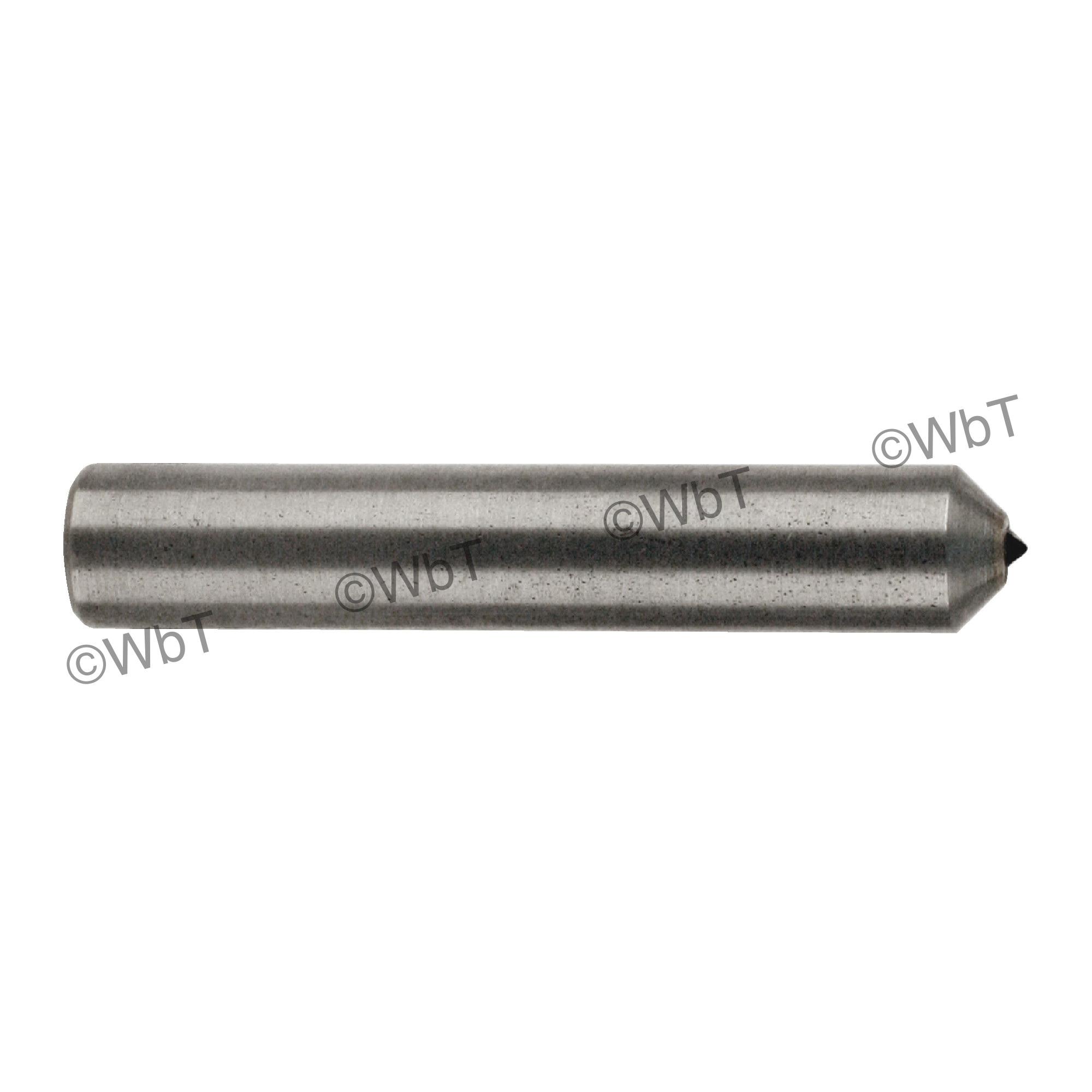 TTC 53-811-260 1-Stone Radius Sliver Set Diamond Dressing Tool, Single Point, 3/8 in Dia Shank, 3 in L Shank