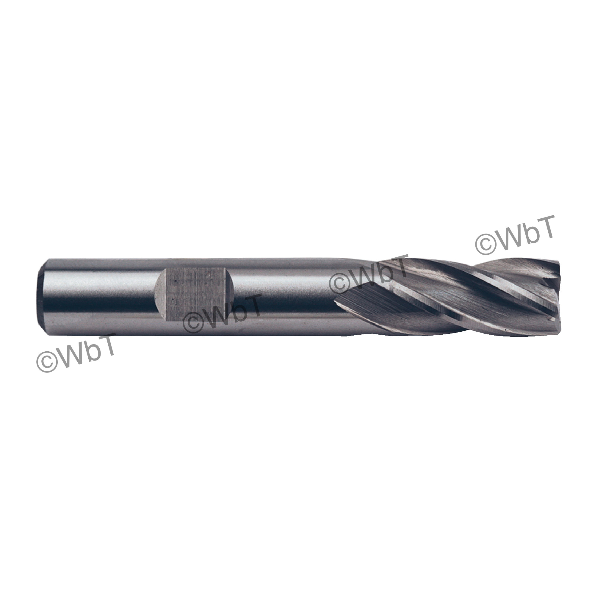 TTC 08-015-140 D5 Center Cutting Standard Length Single End Mill, 5/8 in Dia Cutter, 1-5/8 in Length of Cut, 4 Flutes, 5/8 in Dia Shank, 3-3/4 in OAL, Bright