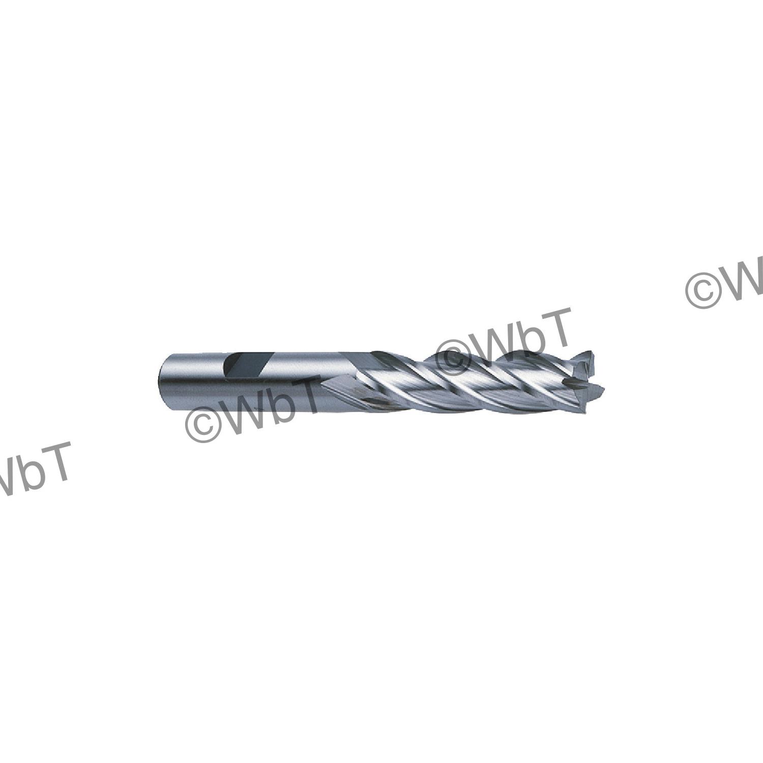 TTC 08-015-420 Center Cutting Economy Standard Length Single End End Mill, 1/2 in Dia Cutter, 1-1/4 in Length of Cut, 4 Flutes, 1/2 in Dia Shank, 3-1/4 in OAL, Bright