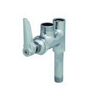T & S B-0155-LN Add-On Faucet, 9.46 gpm Flow Rate, Polished Chrome, 1 Handles