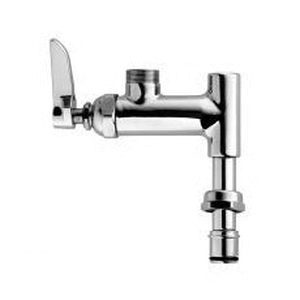 T & S B-0155-LNEZ Easy-Install Add-On Faucet, 9.46 gpm Flow Rate, Polished Chrome, 1 Handles