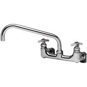 T & S B-0290 Manual Big-Flo Mixing Faucet, 44.27 gpm Flow Rate, 8 in Center, Polished Chrome, 2 Handles