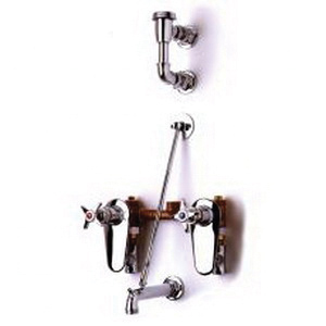 T & S B-0695-ST Service Sink/Mop Sink Faucet, Wall Mount, 8 in Center, Polished Chrome