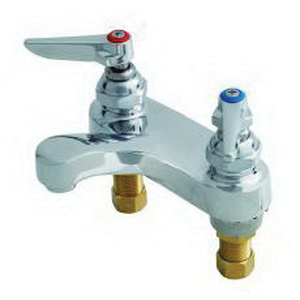 T & S B-0871 Centerset Lavatory Manual Faucet, 2.2 gpm Flow Rate, 4 in Center, Polished Chrome, Domestic