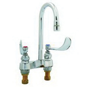 T & S B-0892-01 Medical Manual Faucet, 2.2 gpm Flow Rate, 4 in Center, Polished Chrome, Domestic