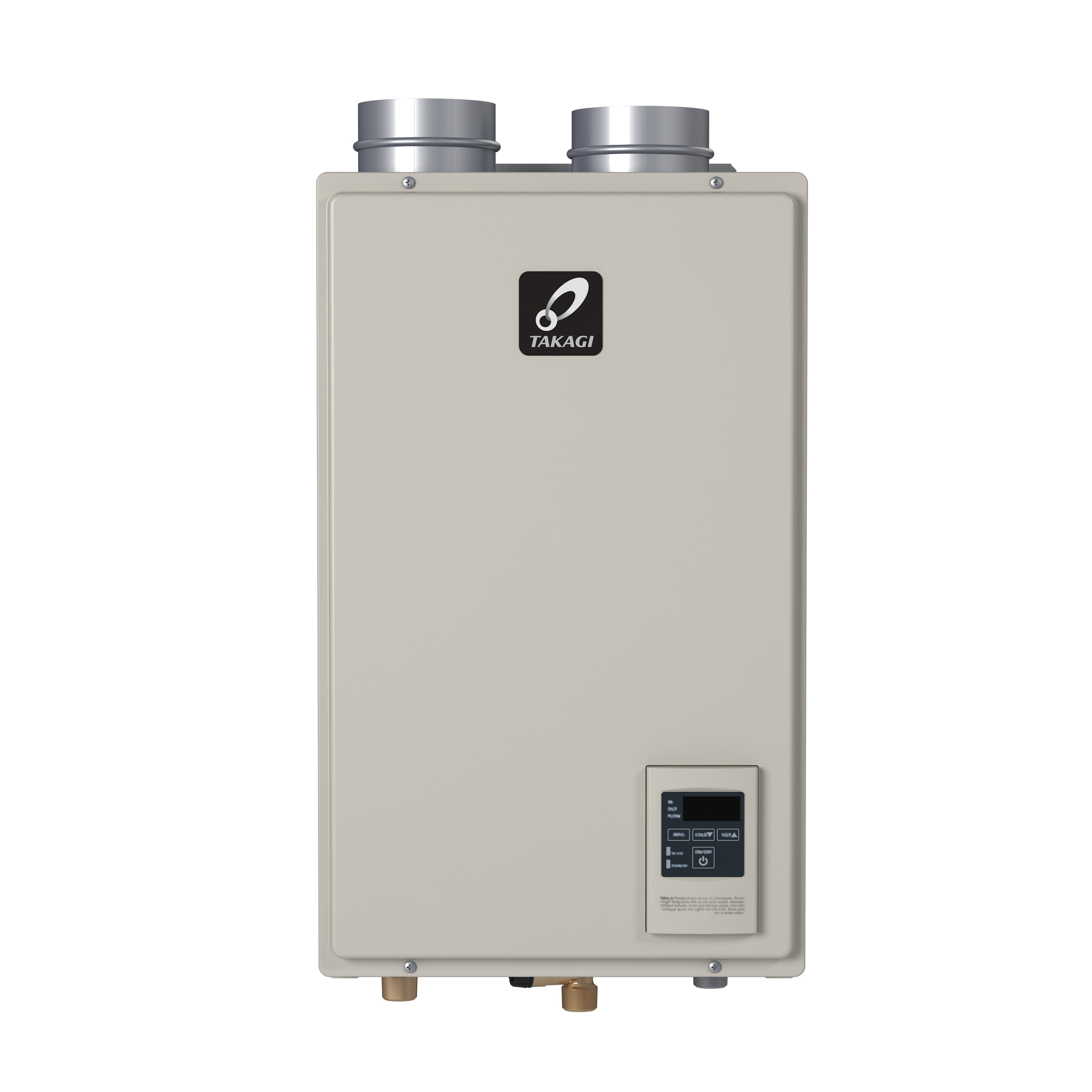 Takagi 100123497 H3M Tankless Water Heater, Natural Gas Fuel, 120000 Btu/hr, Indoor, Condensing, 6.6 gpm, 4 in Direct Vent, 0.9, Residential