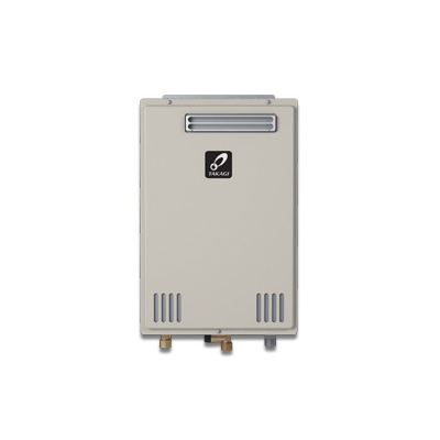 Takagi 100234177 TK-510U Tankless Water Heater, Liquid Propane/Natural Gas Fuel, 199000 Btu/hr Heating, Indoor/Outdoor: Outdoor, Non-Condensing, 10 gpm Flow Rate, 4 in Vent, 0.81, Commercial/Residential