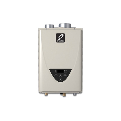 Takagi 100227721 TK-510U Tankless Water Heater, Liquid Propane/Natural Gas Fuel, 199000 Btu/hr Heating, Indoor/Outdoor: Indoor, Non-Condensing, 10 gpm Flow Rate, Power Direct Vent, 4 in Vent, 0.82, Commercial