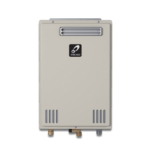 Takagi 100227703 200 Tankless Water Heater, Liquid Propane/Natural Gas Fuel, 140000 Btu/hr Heating, Indoor/Outdoor: Outdoor, Non-Condensing, 6.6 gpm Flow Rate, 4 in Vent, 0.81, Commercial/Residential
