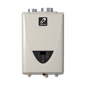 Takagi 100227697 200 Tankless Water Heater, Liquid Propane/Natural Gas Fuel, 140000 Btu/hr Heating, Indoor/Outdoor: Indoor, Non-Condensing, 6.6 gpm Flow Rate, Direct Vent, 4 in Vent, 0.82, Commercial/Residential