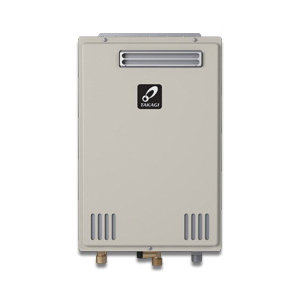 Takagi 100227715 200 Tankless Water Heater, Liquid Propane/Natural Gas Fuel, 190000 Btu/hr Heating, Indoor/Outdoor: Outdoor, Non-Condensing, 8 gpm Flow Rate, 4 in Vent, 0.82, Commercial/Residential