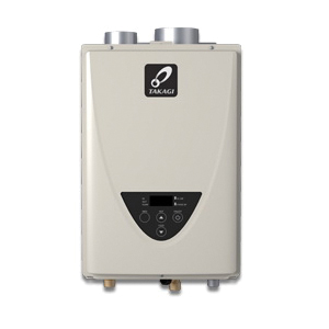 Takagi 100227709 200 Tankless Water Heater, Liquid Propane/Natural Gas Fuel, 190000 Btu/hr Heating, Indoor/Outdoor: Indoor, Non-Condensing, 8 gpm Flow Rate, Direct Vent, 4 in Vent, 0.81, Commercial/Residential