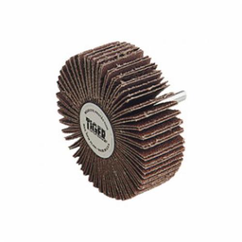 Tiger® 50694 Premium Coated Abrasive Flap Disc, 4 in Dia, 5/8 in Center Hole, 60 Grit, Medium Grade, Zirconia Alumina Abrasive, Type 27/Flat Disc