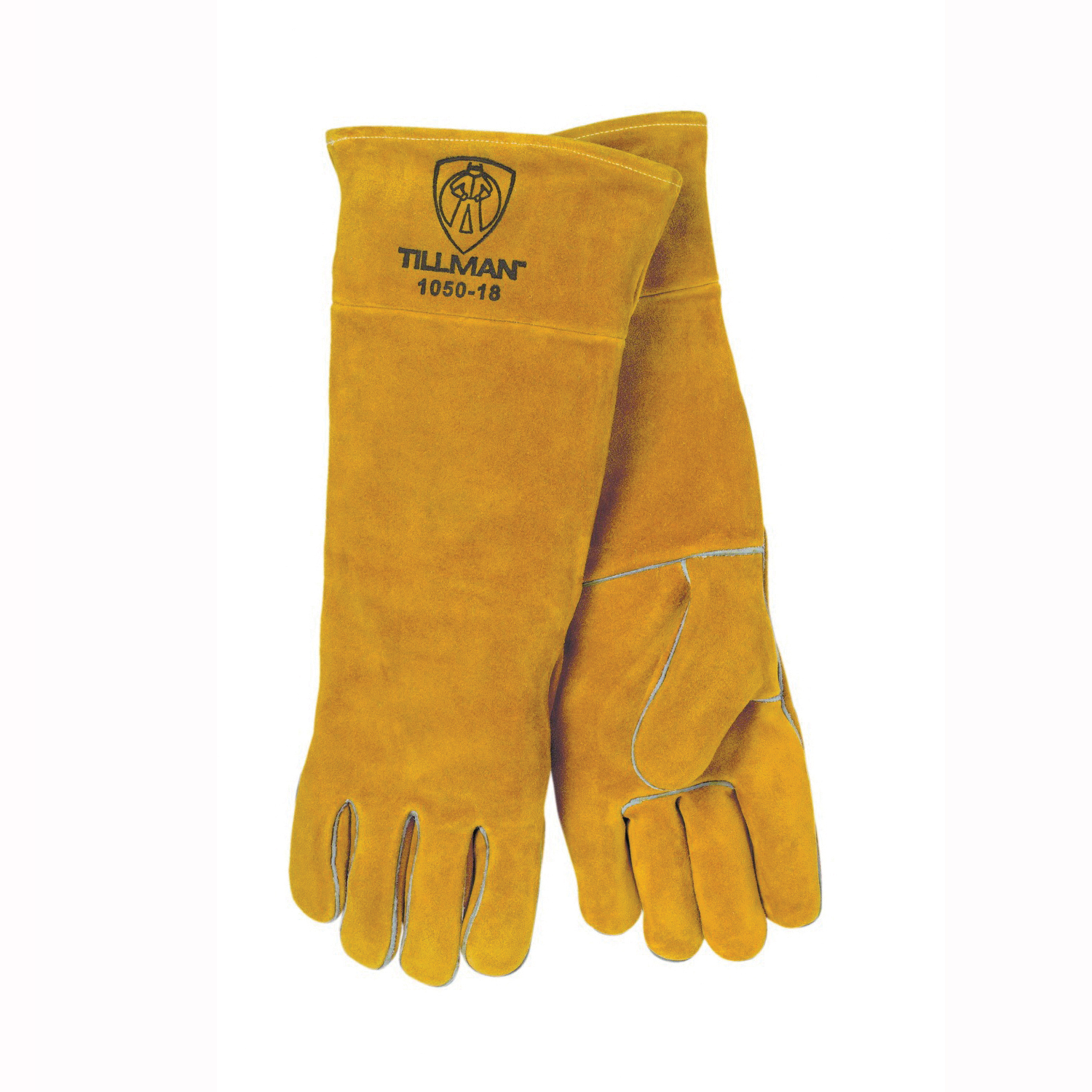 Tillman™ 1015-L Stick Welding Gloves, L, Shoulder Split Cowhide Leather, Blue, Cotton/Foam Lining, 14 in L