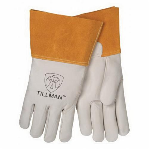 Tillman™ 1328-M Premium Grade TIG Welding Gloves, M, Goat Skin Leather, Pearl, Unlined, Gauntlet Cuff