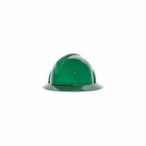 Topgard® 475387 Full Brim Non-Vented Hard Hat, SZ 6-1/2 Fits Mini Hat, SZ 8 Fits Max Hat, Polycarbonate, 4-Point Fas-Trac® III Suspension, ANSI Electrical Class Rating: Class E, ANSI Impact Rating: Type 1, Ratchet Adjustment