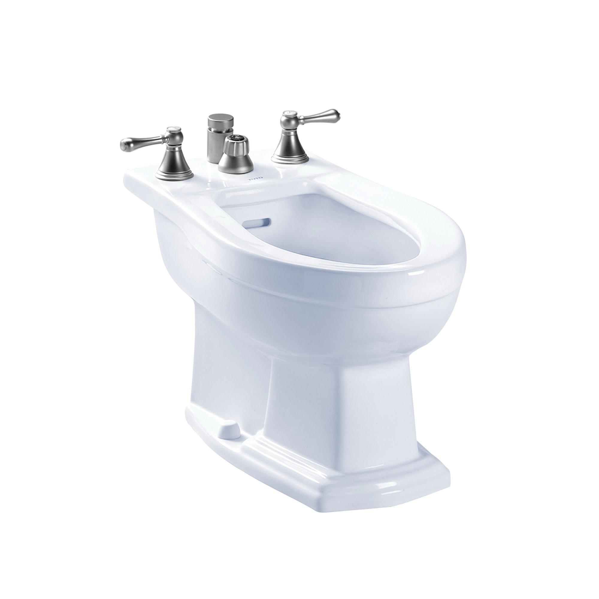 Toto® BT784B#01 Bidet Toilet, Clayton™, 15 in H Rim, 11-5/8 in Rough-In, Cotton White, Import
