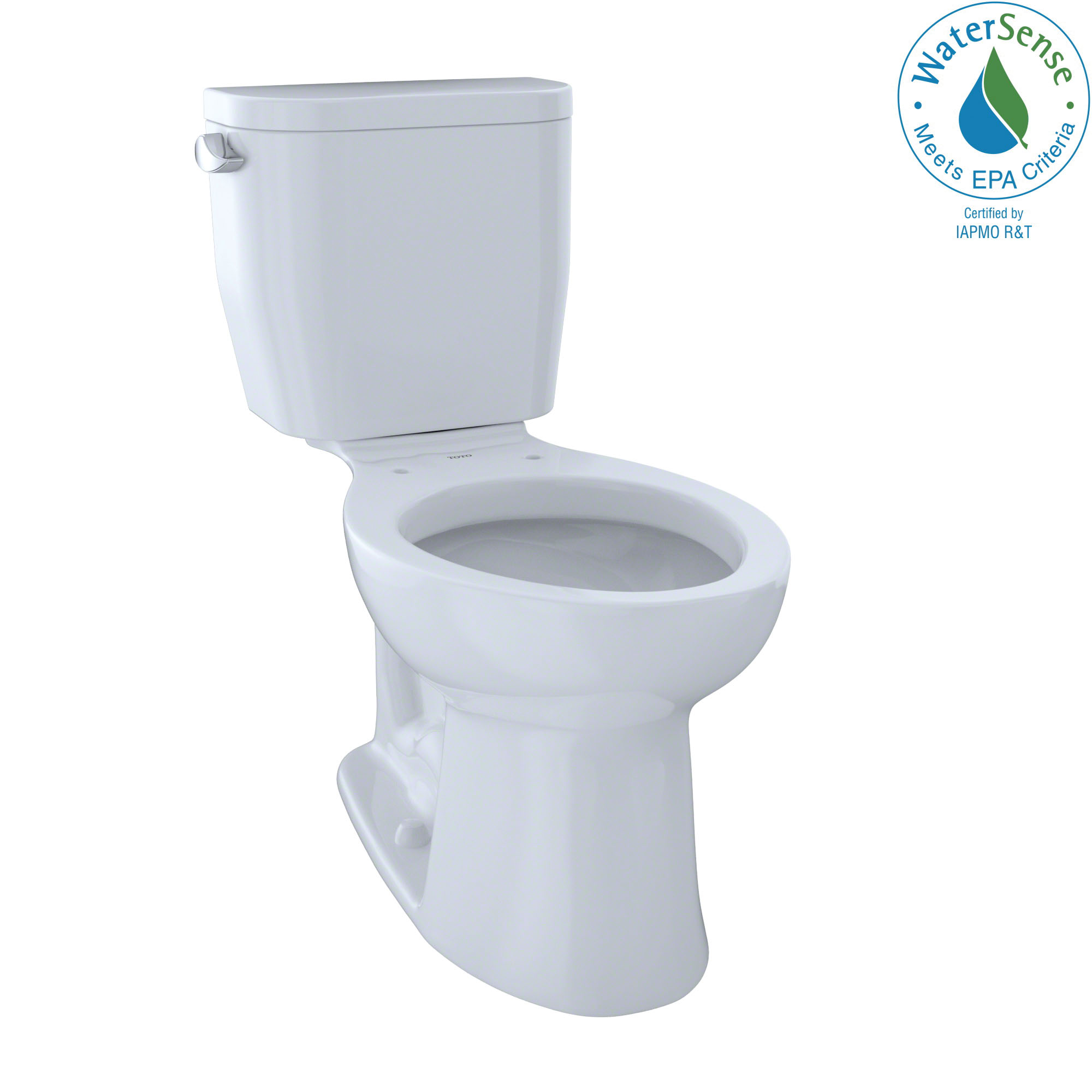 Toto® CST244EF#01 2-Piece Universal Height Close Coupled Toilet With Left-Hand Chrome Trip Lever, Entrada™, Elongated Bowl, 12 in Rough-In, 1.28 gpf, Cotton White, Import,Includes Church Toilet Seat