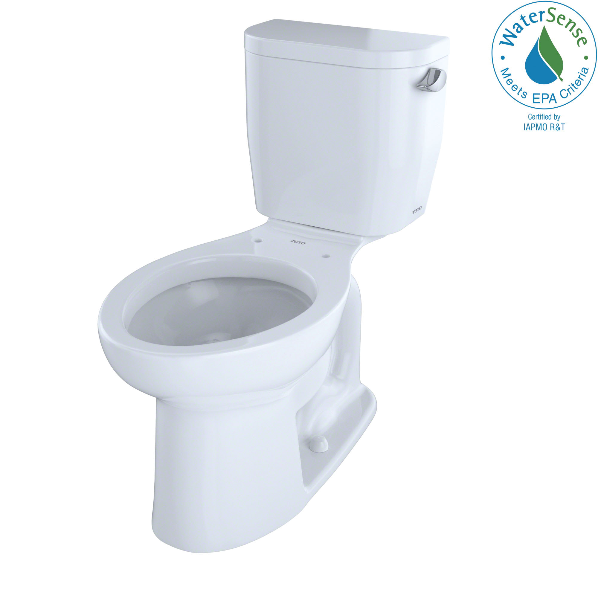 Toto® CST244EFR#01 2-Piece Universal Height Close Coupled Toilet With Right-Hand Trip Lever, Entrada™, Elongated Bowl, 12 in Rough-In, 1.28 gpf, Cotton White, Import