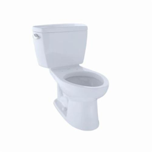 Toto® CST744ER#01 2-Piece Universal Height Close Coupled Toilet With Right-Hand Trip Lever, Eco Drake®, Elongated Bowl, 15-5/8 in H Rim, 12 in Rough-In, 1.28 gpf, Cotton White, Import