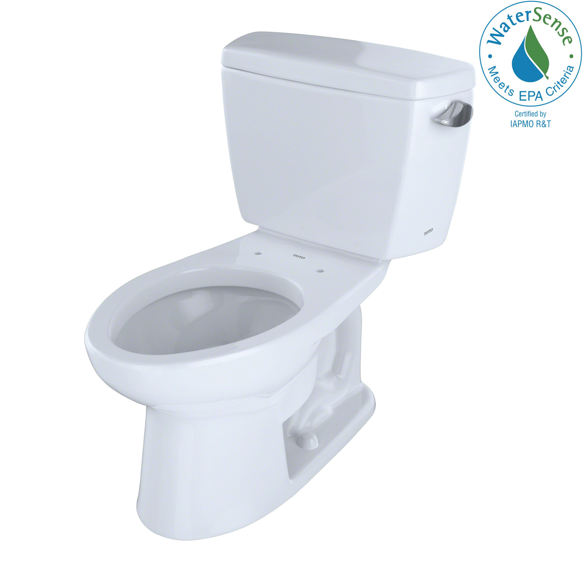 Toto® CST744ELR#01 Universal Height Close Coupled Toilet With Right-Hand Trip Lever, Eco Drake®, Elongated Bowl, 17-5/8 in H Rim, 12 in Rough-In, 1.28 gpf, Cotton White, Import