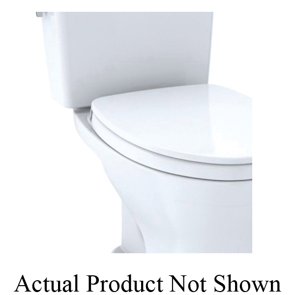 Toto® CST746CEMFG#01 2-Piece Dual Flush High-Efficiency Closed Coupled Toilet With CEFIONTECT® Ceramic Glaze, Drake®, Elongated Front Bowl, 16-1/8 in H Rim, 12 in Rough-In, 0.8/1.28 gpf, Cotton White, Import