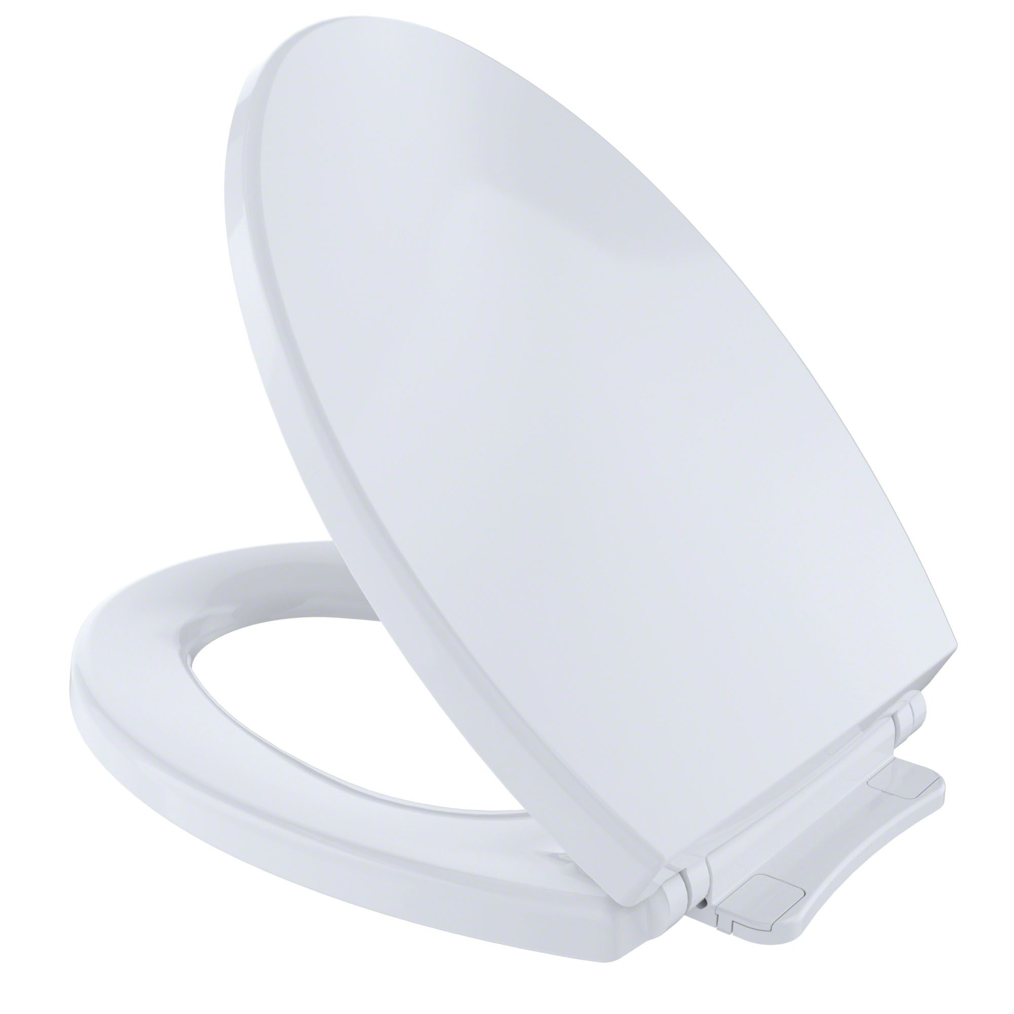 Toto® SS114#01 Toilet Seat With Cover, Elongated Bowl, Closed Front, Polypropylene, Cotton White, SoftClose® Hinge, Import