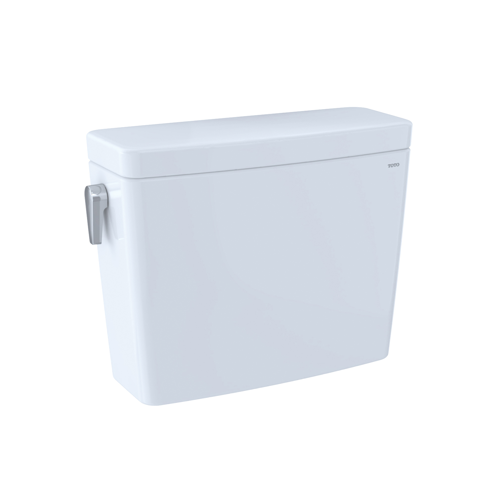 Toto® ST746EMA#01 Dual Flush Tank and Cover Only With T40 WASHLET®+ Auto Flush, Drake®, 0.8/1.28 gpf, 2-1/2 in Left-Hand Trip Lever Flush, Cotton White, Import