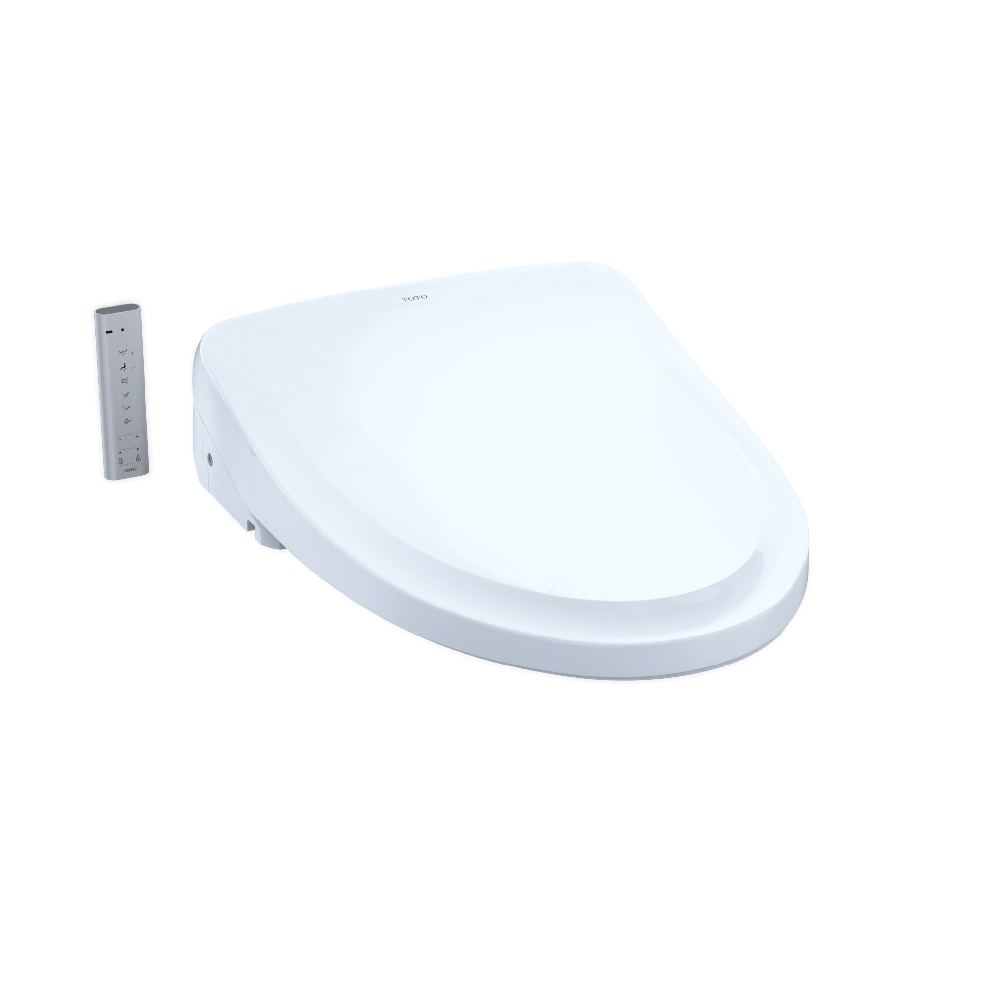Toto® SW3044#01 Electronic Bidet Toilet Seat With ewater+® Technology, WASHLET® S500e, Elongated Front Bowl, Closed Front, Plastic, Cotton White, Import