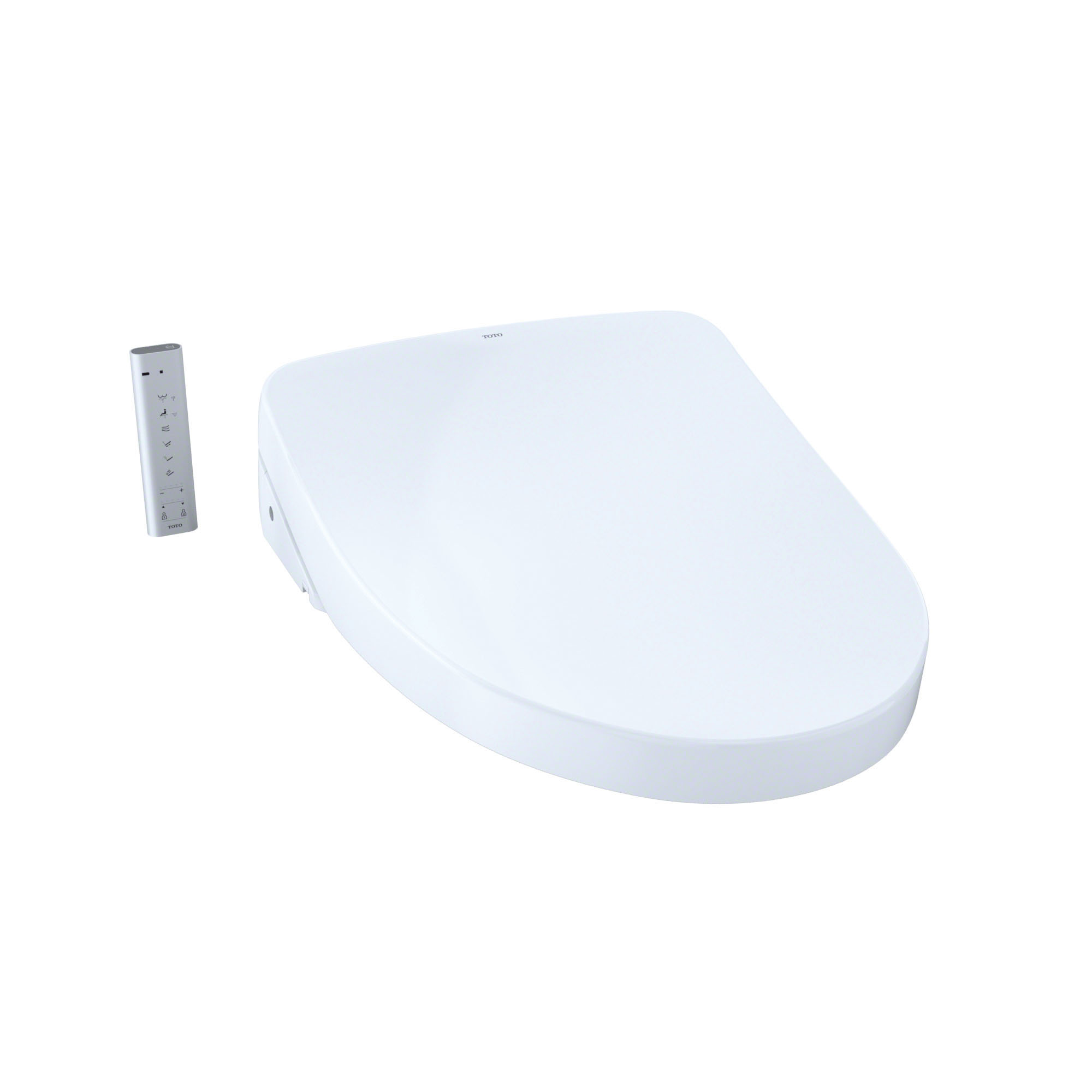 Toto® SW3056AT40#01 Contemporary Style Electronic Bidet Toilet Seat With EWATER+® Technology, WASHLET®, Elongated Bowl, Closed Front, Plastic, Cotton White, Import