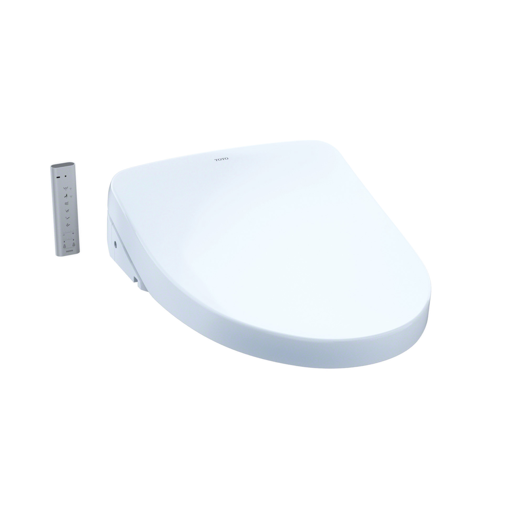 Toto® SW3046#01 Electronic Bidet Toilet Seat With ewater+® Technology, WASHLET® S500e, Elongated Front Bowl, Closed Front, Plastic, Cotton White, Import