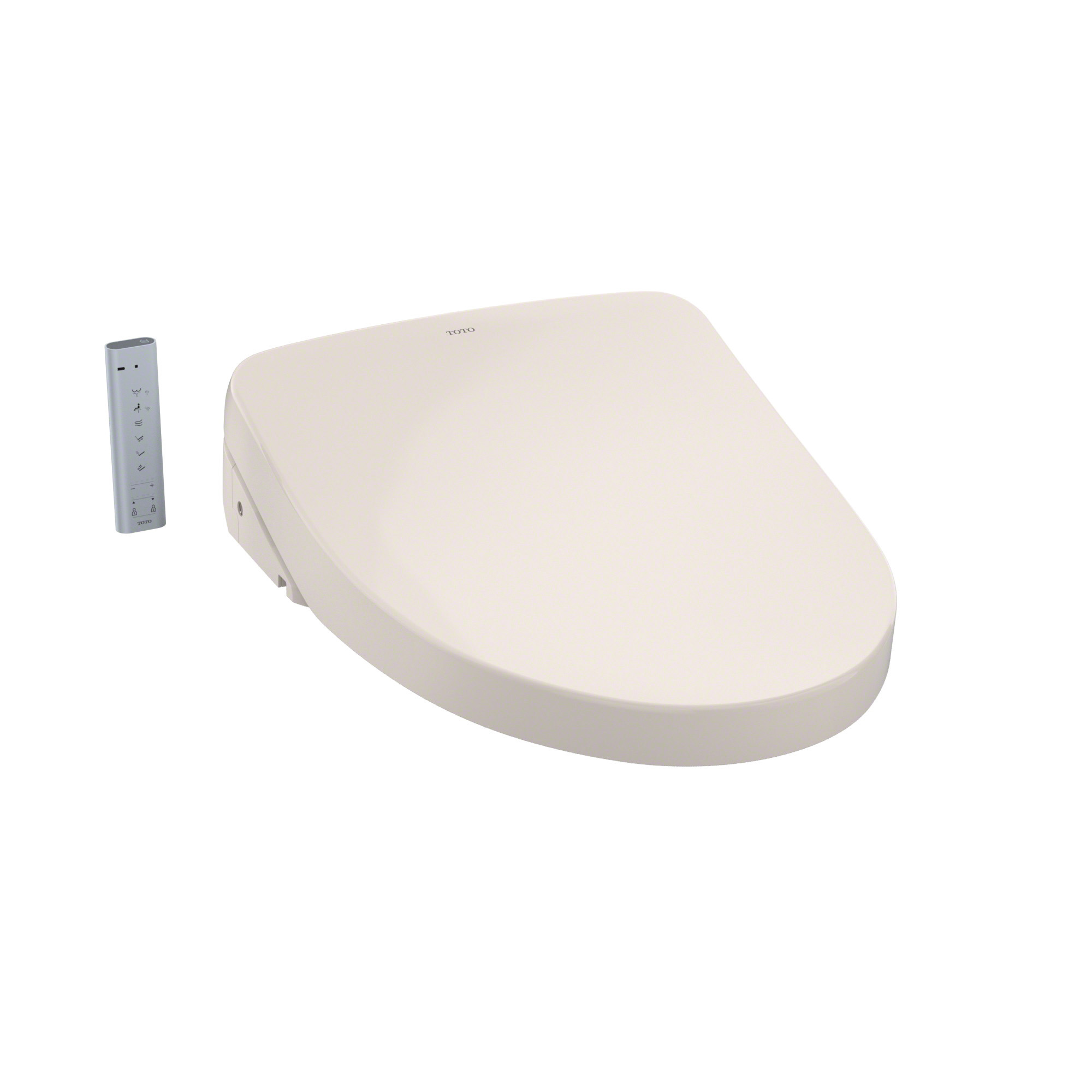 Toto® SW3056#12 Electronic Bidet Toilet Seat With ewater+® Technology, WASHLET® S550e, Elongated Front Bowl, Auto Open/Closed Front, Plastic, Sedona Beige, Import