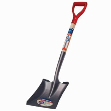 Ames® Eagle® 1554500 E471 Square Point Shovel, Tempered Steel Blade, 9 in W, Square Blade Point, 46 in L Handle