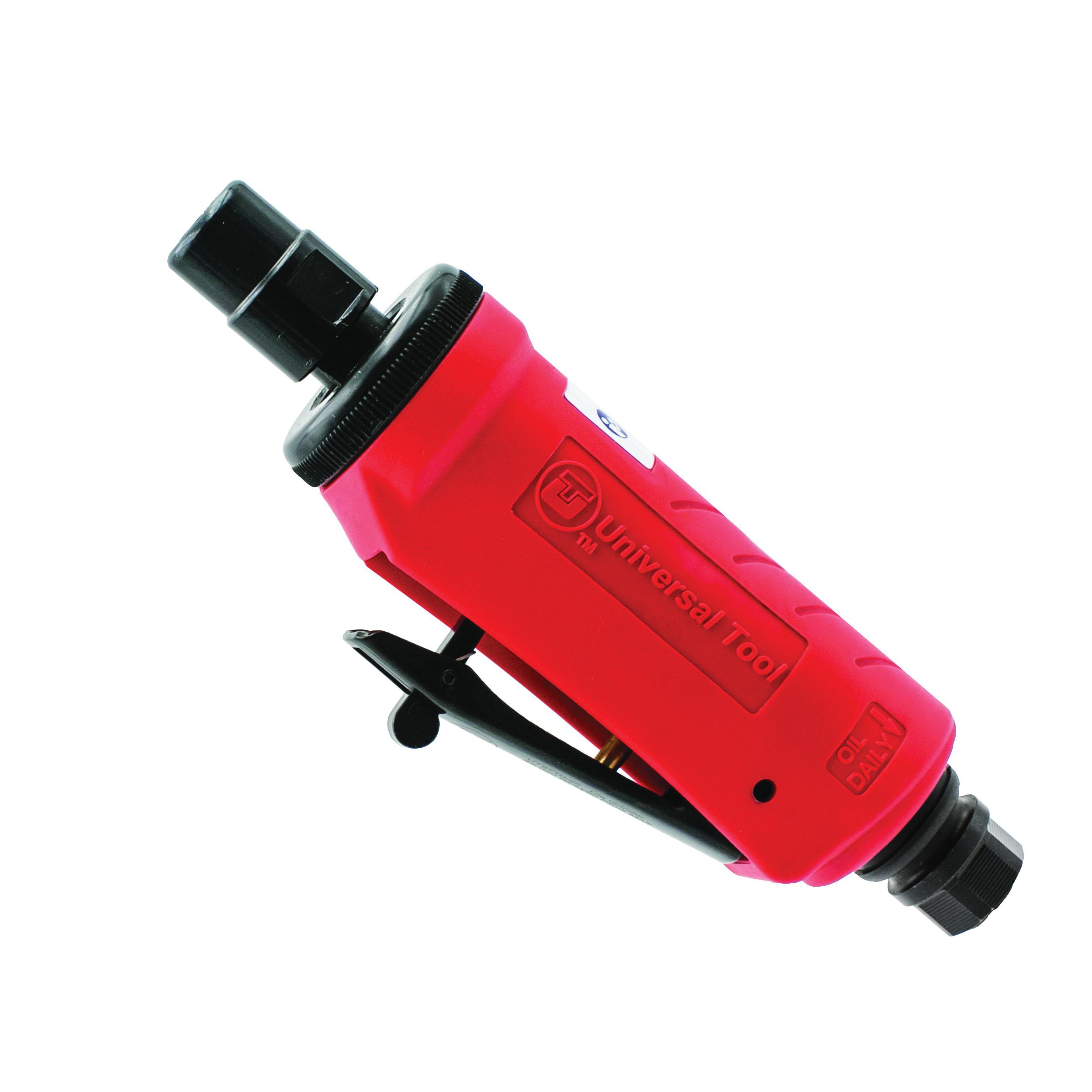 UT™ UT4425-1 Straight Pneumatic Die Grinder, 1/4 in Collet, For Max Wheel Dia: 2 in, 1 hp, 5.5 cfm Air Flow, 90 psi, 25000 rpm Speed